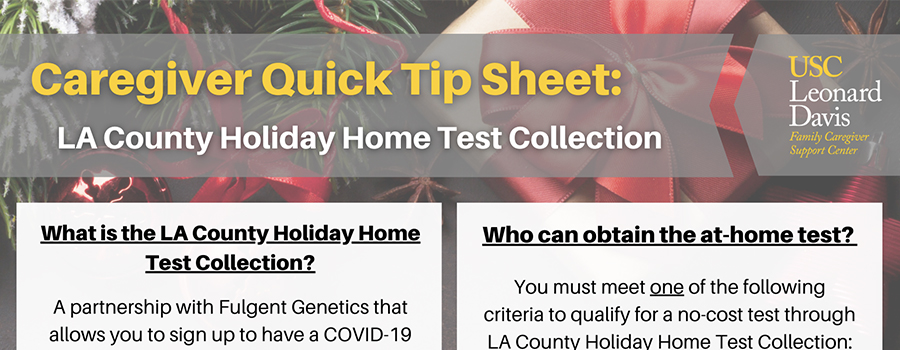 LA County Holiday Home Test Collection