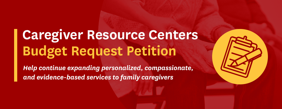 Caregiver Resource Centers Budget Request Petition
