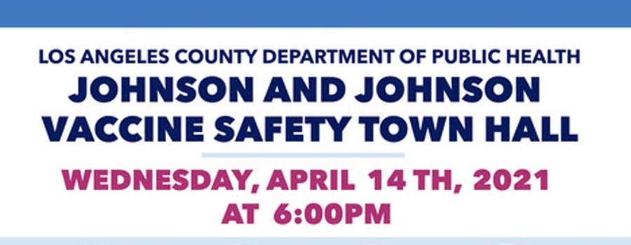 Johnson And Johnson Town Hall<br><b>(Wednesday, April 14th, 2021 at 6:00 PM PST)</b>